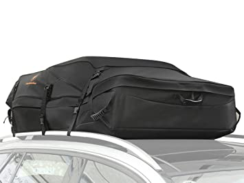 Fabselection Waterproof Car Roof Top Cargo Bag Box Works On With Rack Or No