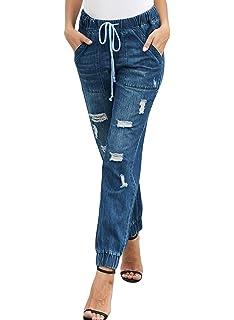 Amazon.com: Meilidress - Pantalones vaqueros para mujer con ...