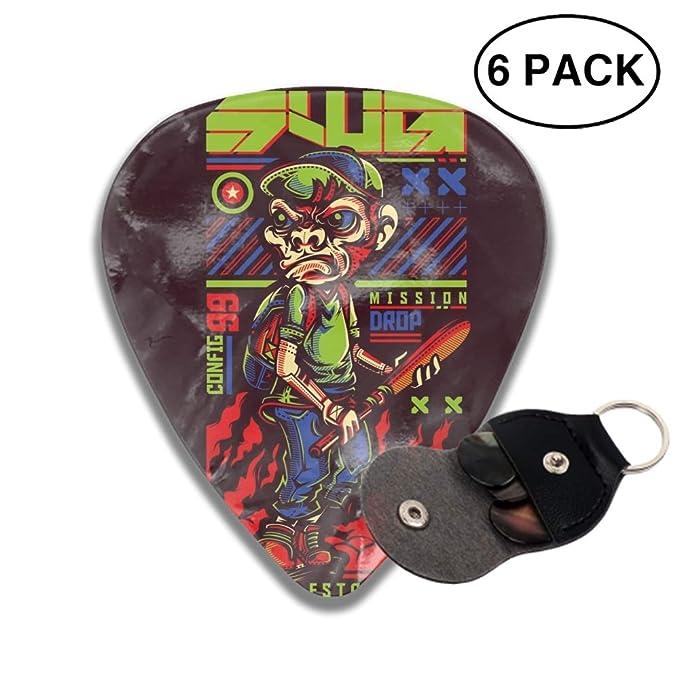 Amazon.com: West Coast 3D Color Printed Guitar and Bass Pick ...