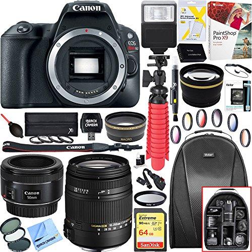Canon 2249C001 EOS Rebel SL2 24MP DSLR Camera  + 18-250mm F3