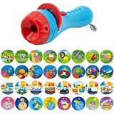 Pueri Projector Toy Kids Story Flashlight Toy Sleep Bedding Story Toy Animal Slide Show Preschool Educational Toy for Toddler Boys and Girls