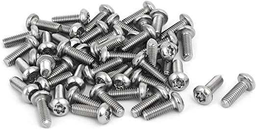 uxcell M4x12mm 304 Stainless Steel Button Head Torx Security Tamper Proof Screws 50pcs