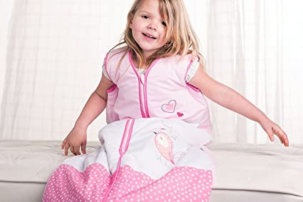 Perfect Presents Kiddy Kaboosh Various Sizes Machine Washable Cosy /& Safe 1.0 Tog Pretty Kitty Garden Size 4: 3-6 Years Baby Sleeping Bag Summer Weight