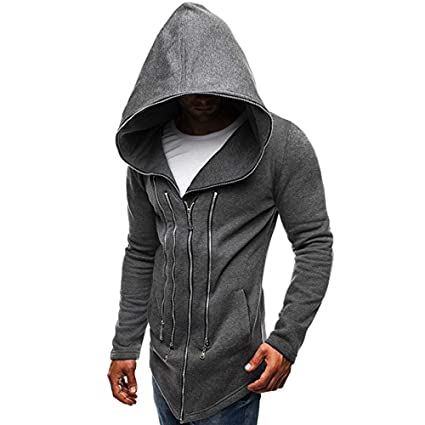 ab3af62a217589 Amazon.com - Big Promotion,Men s Assassin s Creed Coat Drawsting Dark Cloak  Sweatshirt Zip Up Long Sleeve -