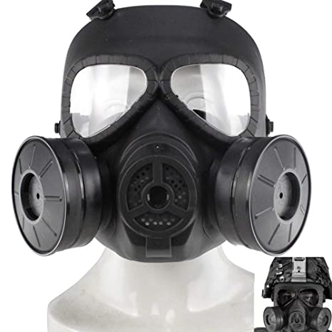 Outdoor Tactical Airsoft M50 Face Protection Mask Outdoors Paintball Cs War Game Us Military Full Face Skull Gas Mask With Fan Back To Search Resultshome