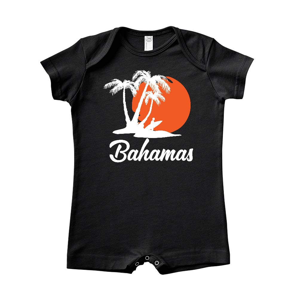 Bahamas Beach Sunset Surfer Baby Romper