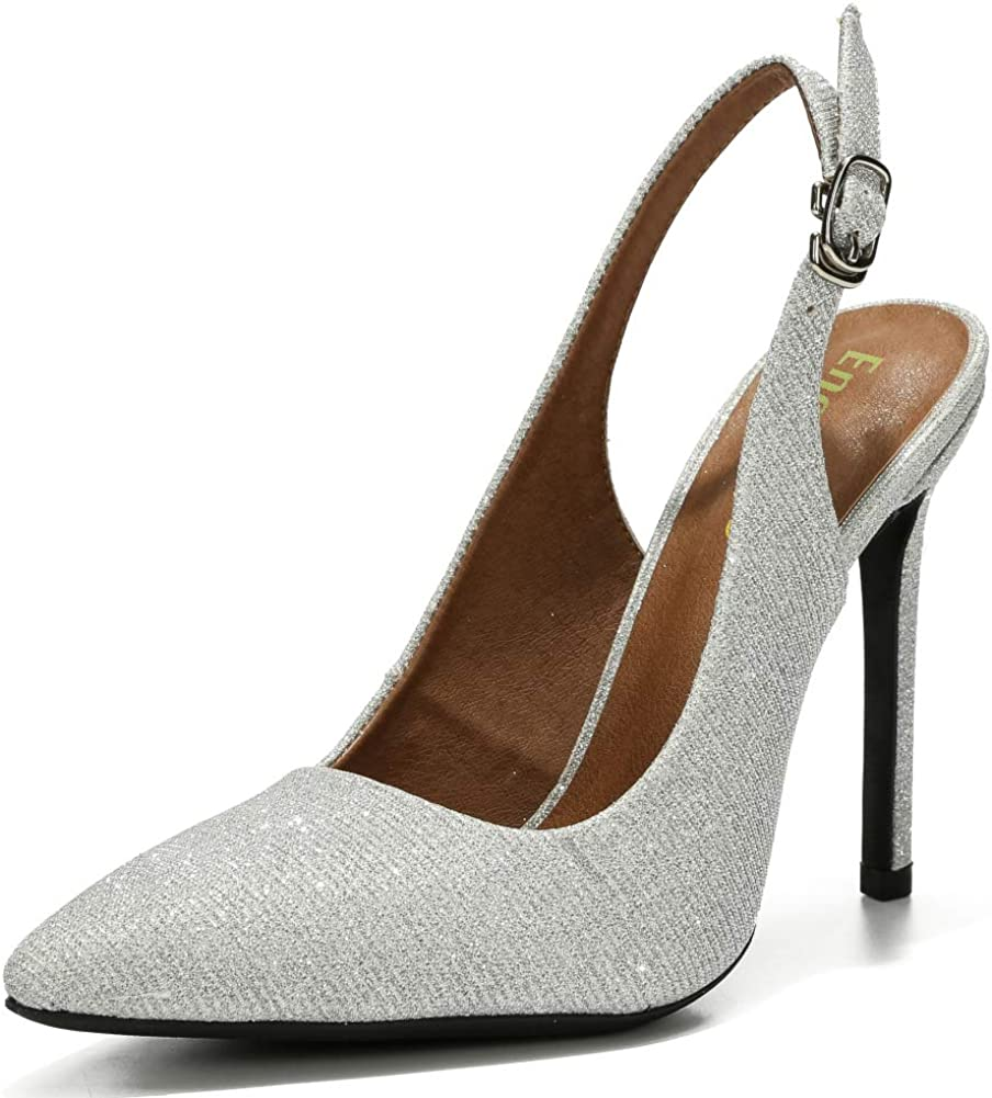 Enelauge Womens Chic Pointed Toe