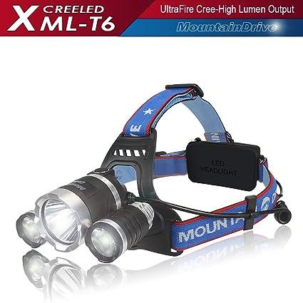 Amazon Com Sale Headlight Flashlight Hiking Rechargeable Xml T6