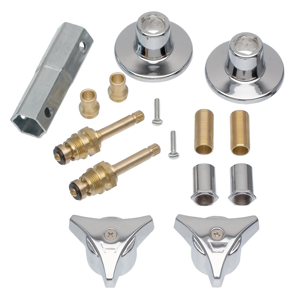 DANCO Tub and Shower 2-Handle Remodeling Trim Kit for Union Brass, Chrome, 1-Kit (39690)