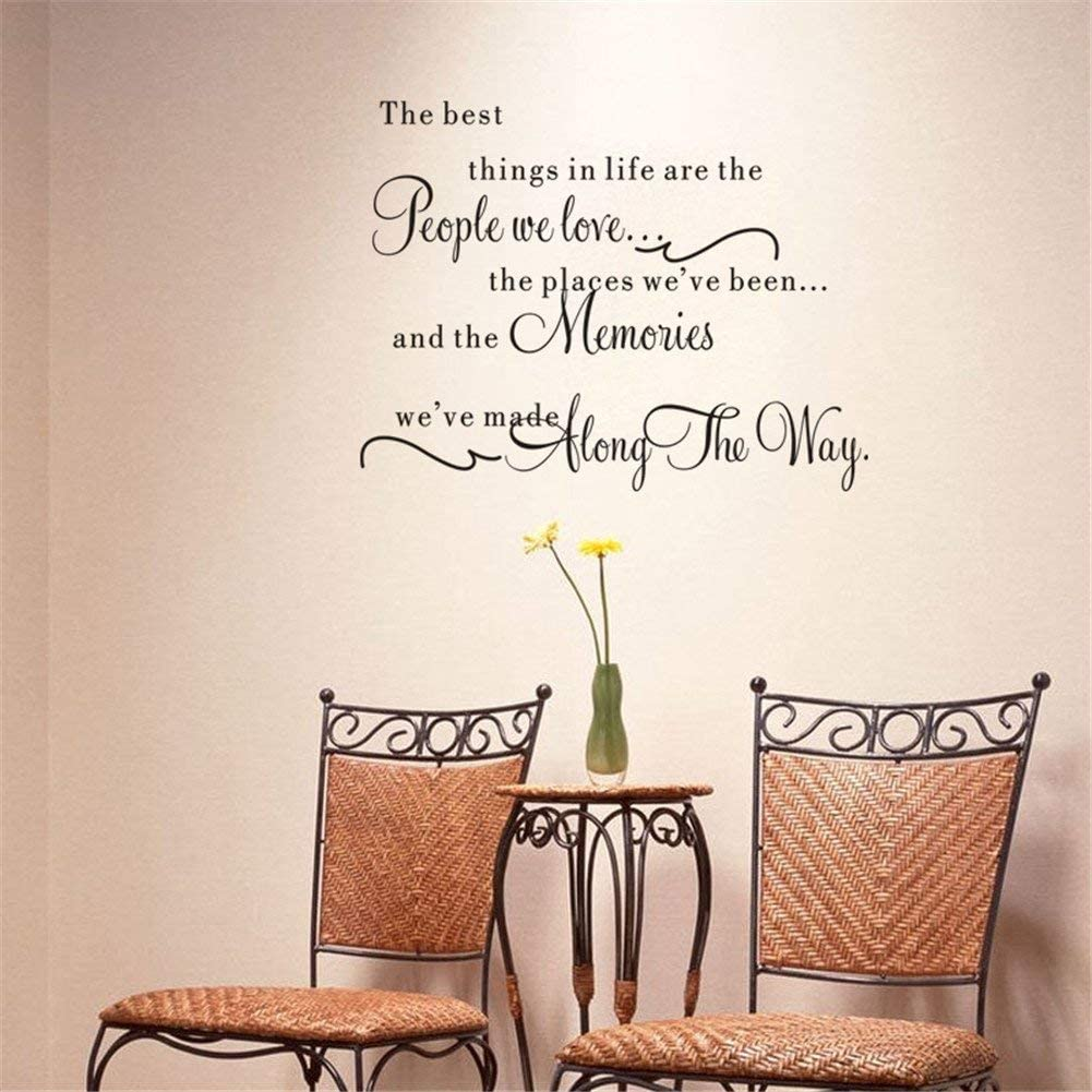 Quote the Best Things in Life Wall Sticker Vinyl Art Words Decal