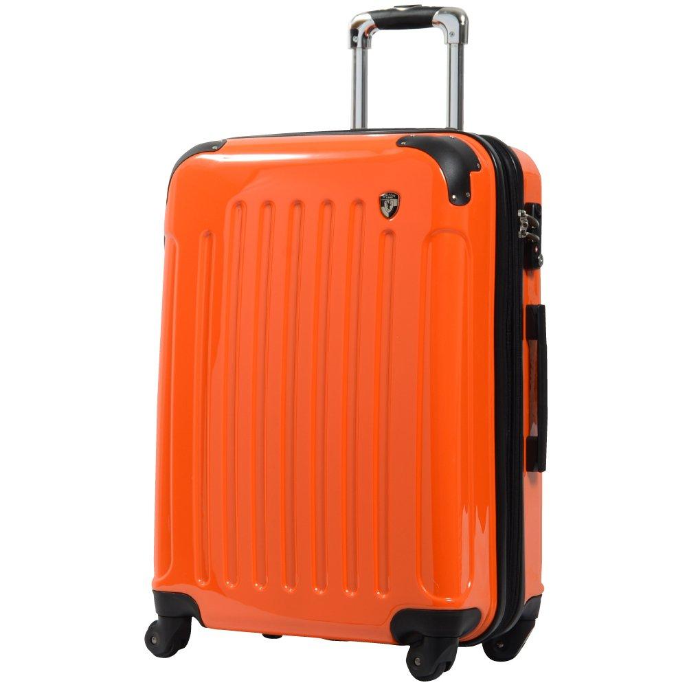 [グリフィンランド]_Griffinland TSAロック搭載 スーツケース 超軽量 ミラー加工 newFK1037 ファスナー開閉式 B003IMQM8Q M(中)型|マンダリンオレンジ マンダリンオレンジ M(中)型