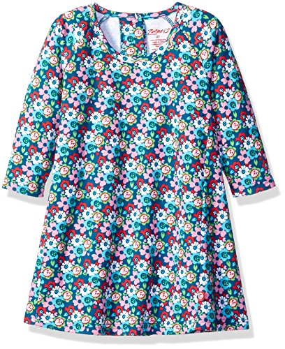 (Zutano Toddler Girls' Raglan Trapeze Dress, Edelweiss, 3T)