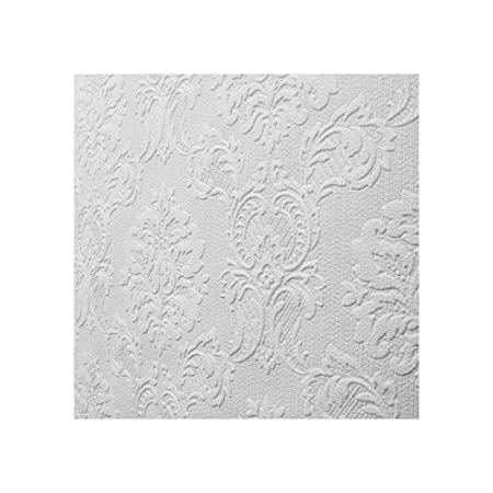 Superieur Damask Paintable Wallpaper Textured Embossed Luxury Blown Vinyl Pure Whites