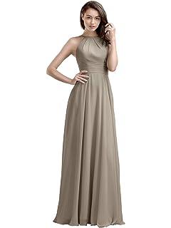 5f3b630455 AW Bridal Chiffon Bridesmaid Dresses Long Prom Dresses Women s Formal  Dresses