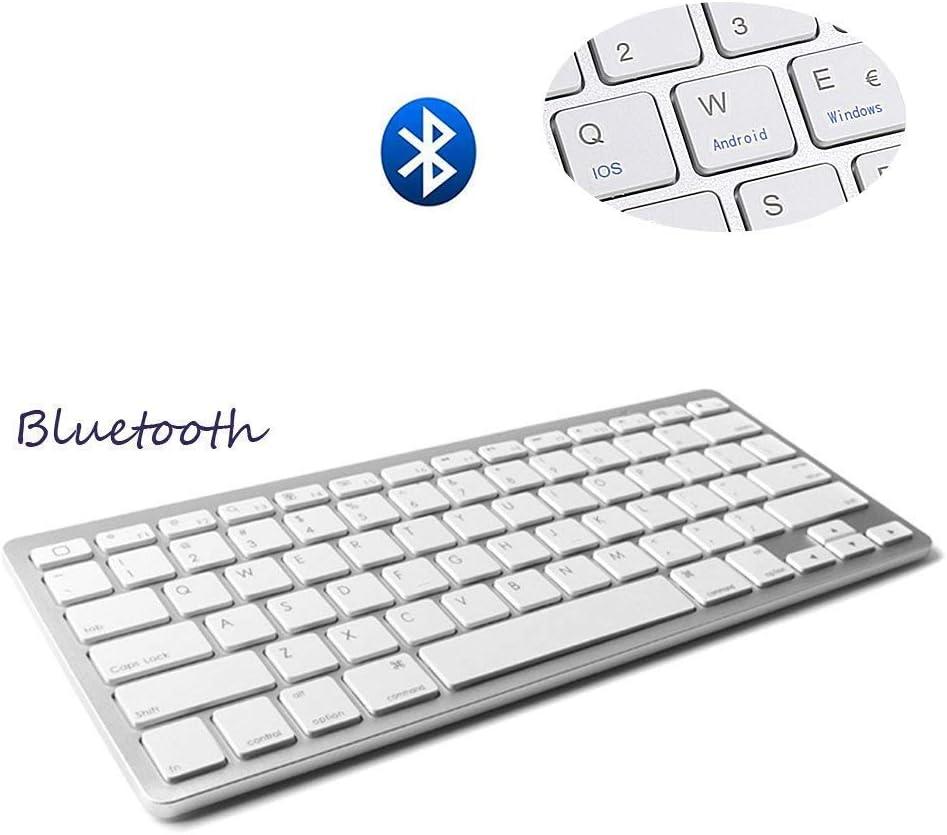 Teclado Inalámbrico Bluetooth 3.0 conexión, Marca Dingrich, Uso Universal, Ultra Delgado, Teclado portátil y Ligero, para tabletas y iPad, Compatible con Sistemas iOS, Android y Windows: Amazon.es: Informática