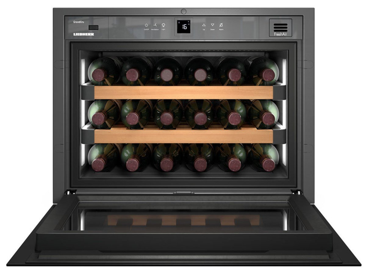 Liebherr WKEgb 582 GrandCru Incasso Cantinetta termoelettrica Nero 18bottiglia/bottiglie A+ cantina vino PAL - WKEgb 582 GrandCru