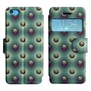 LEOCASE círculos fresco Funda Carcasa Cuero Tapa Case Para Apple iPhone 5C No.1005456
