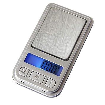 SZP Básculas electrónicas de Cocina, Mini Balanzas de joyería, básculas de Materiales medicinales, tamaño de Matchbox, retroiluminación Azul, ...