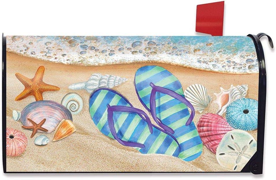 Tropical Flip Flops Summer Large Mailbox Cover Nautical Oversized Briarwood Lane