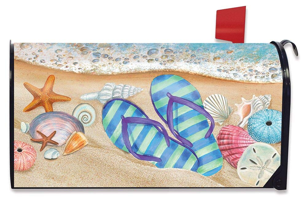 Briarwood Lane Day in The Sun Summer Large Mailbox Cover Flip Flops Nautical Oversized
