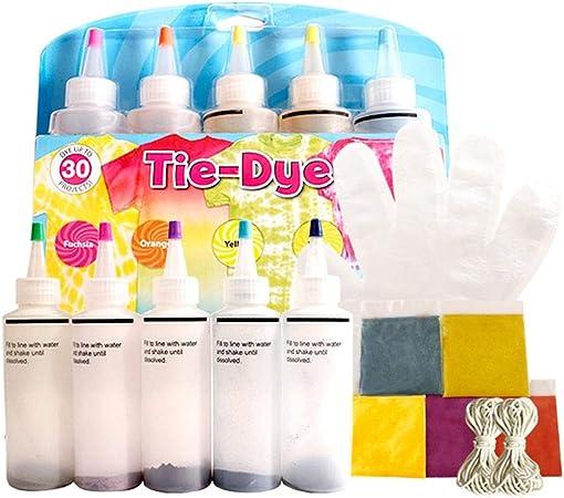 Kit Tie-Dye de un Solo Paso, 5 Colores Rainbow Set Tejido ...