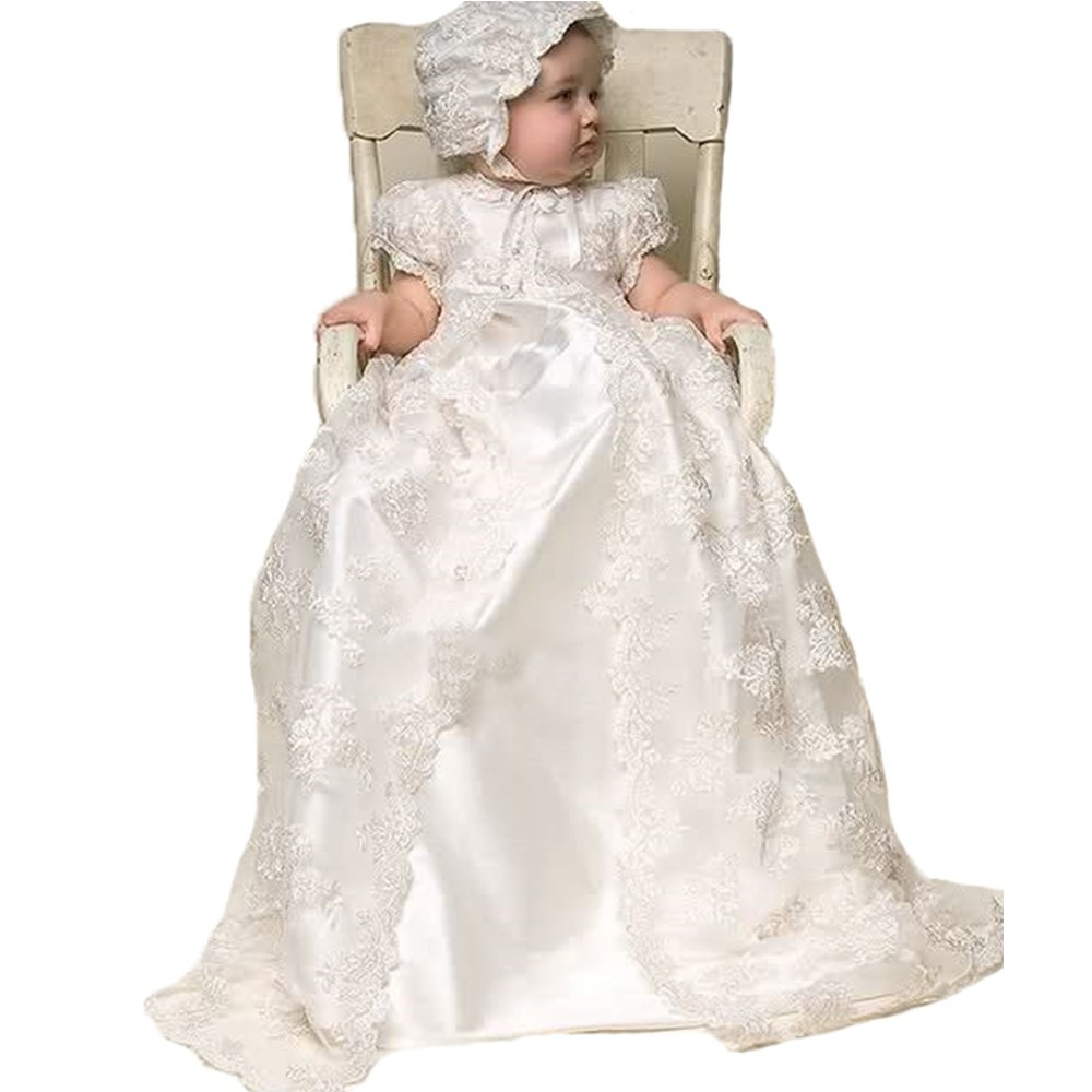 AbaoWedding® Lace Christening Gowns Baby Baptism Dress Newborn Baby Dress