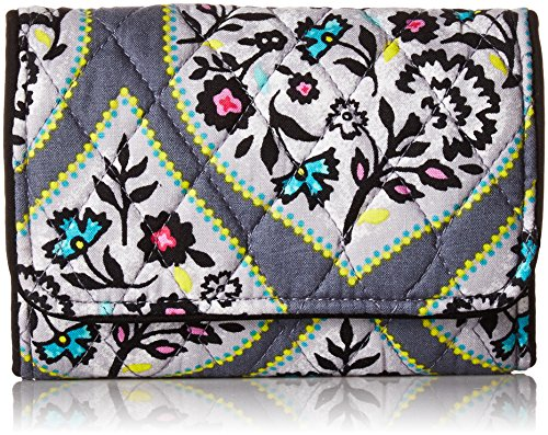 Vera Bradley Women's Rfid Riley Compact Wallet-Signature, Heritage Leaf, One Size