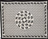 Batik Cream-Base Tapestries Black & white Mandala Elephant Hippy Tapestry Indian Traditional Hippie Beach Throw Wall Art Bohemian Wall Hanging Boho Queen Bedspread