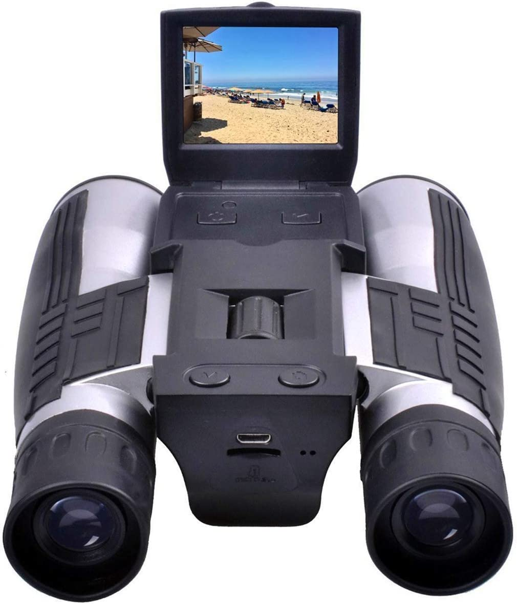 "Binoculars Camera,CamKing FS608 720P Digital Camera Binoculars Camera with 2"" LCD Display 12x32 Folding Prism Digital Binoculars with Camera Video Great for Bird Watching Concerts and Sports Games"