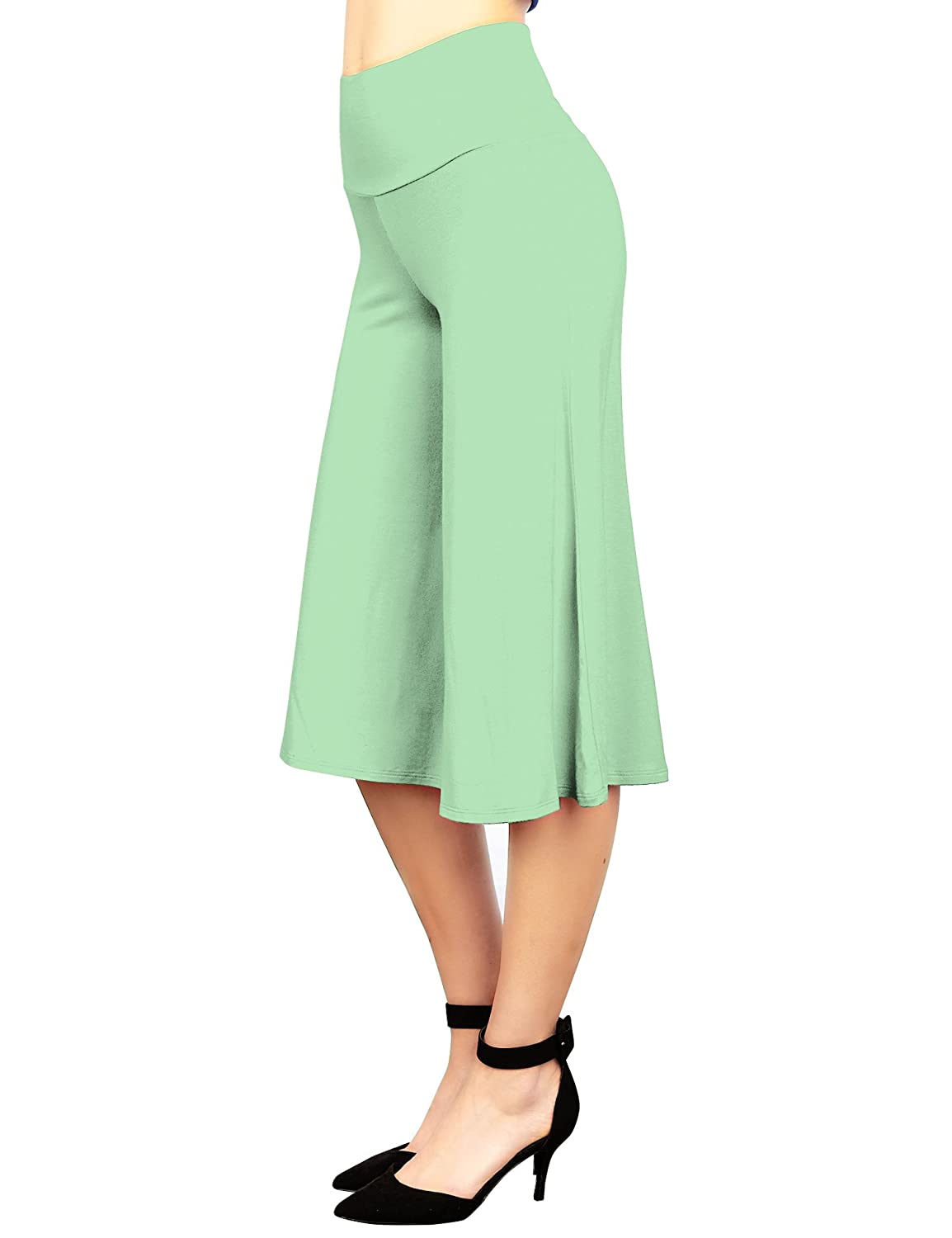 LL Womens Knit Culottes Pant - Made in USA