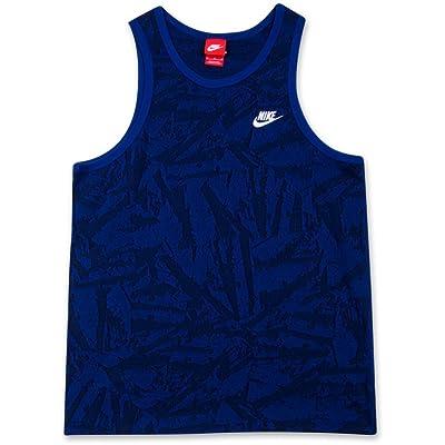 Nike Men's Solstice Futura Dark Blue/Black Training Tank Top