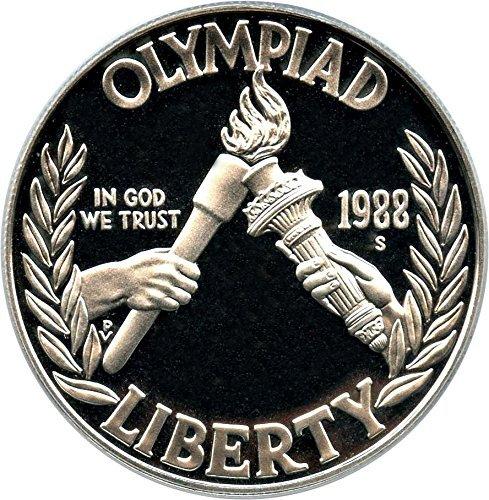 1988 S US Mint Olpympic Proof Commemorative Silver Dollar $1 Gem Brilliant Proof US (Modern Commemorative Proof)