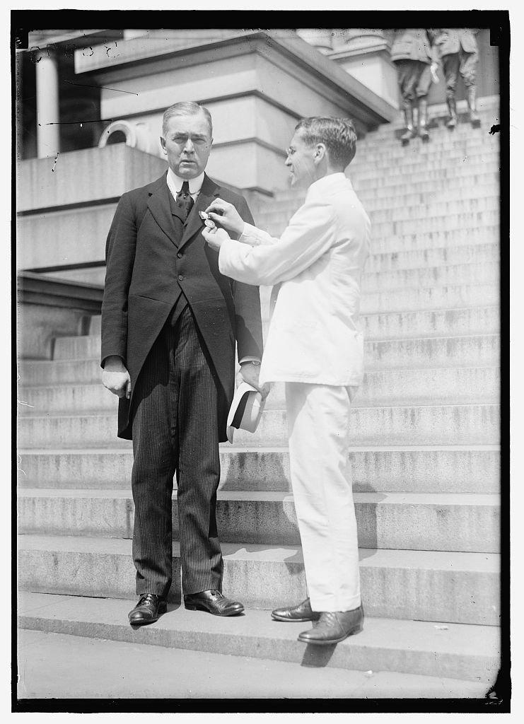 Vintography Reproduced 16 x 20 Photo Young Men's Christian Association. Dr. John R. Mott, Gen. Secretary War Work, Decorated. Medals, Etc. 1919 Harris & Ewing a92
