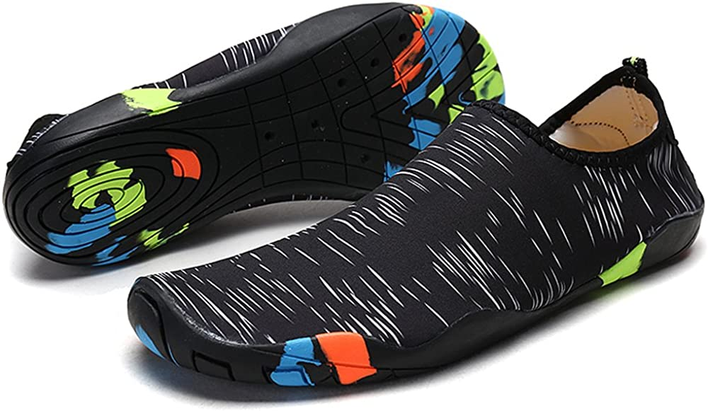 Anti-Slip Shoes for Men//Women//Kids Deyuan Quick-Dry Water Shoes Aqua Socks Barefoot for Outdoor Beach Swim Surf
