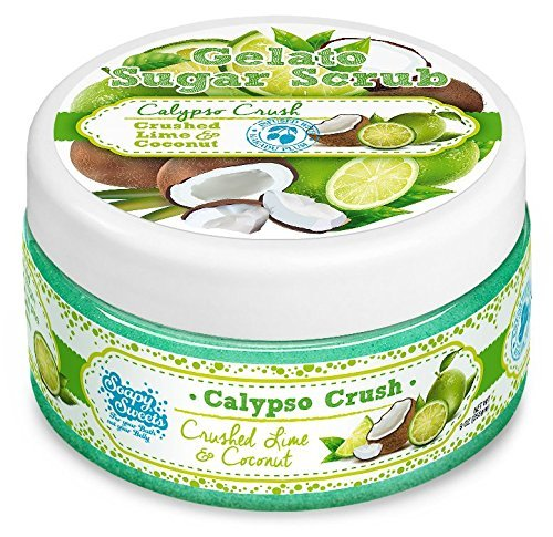 Lemon Sweet Sugar Scrub (Soapy Sweets Calypso Crush Sugar Scrub - Crushed Lime & Coconut - with Kakadu Plum - Antioxidants Helps Prevent Wrinkles and Fine Lines 3.5 Oz)