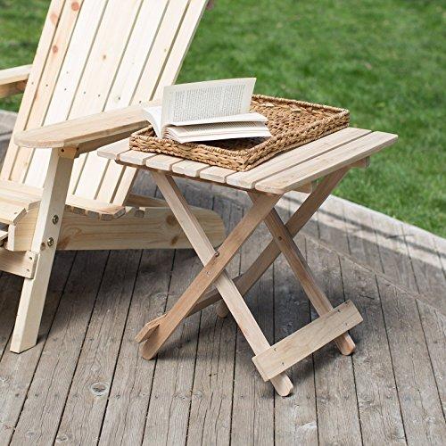 Adirondack Footrest Style (Coral Coast Hubbard Adirondack Table Unfinished)