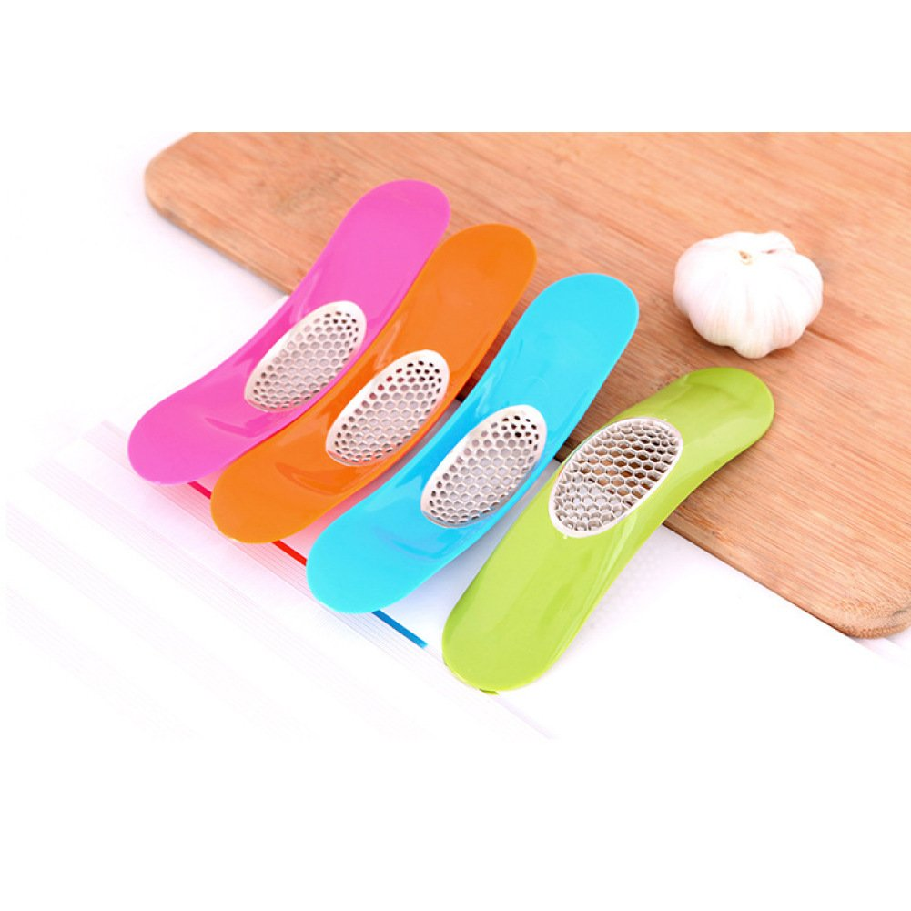 BENHAI 1PC DIY Lovely Kitchen Supplies Home Garlic Crusher Convient Cooking Tools Novelty Kitchen Garlic Press Garlic press