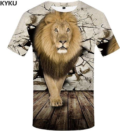 KYKU Camiseta psicodélica de los Hombres en Blanco y Negro 3D Camiseta Punk Rock Ropa Agujero Negro Imprimir Camiseta Hip Hop Ropa para Hombre Verano: Amazon.es: Deportes y aire libre