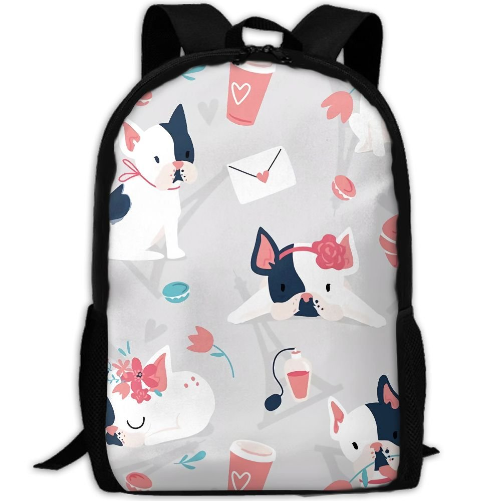 OIlXKV Cute Cartoon Black And White Face Puppy Print Custom Casual School Bag Backpack Multipurpose Travel Daypack For Adult by OIlXKV (Image #1)