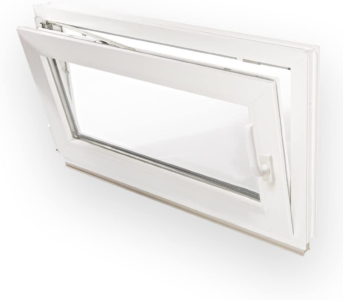 Kellerfenster Kunststoff Fenster Dreh Kipp 65 x 40 cm 650 x 400 mm Winkhaus Beschlag Isolierglas DIN Links