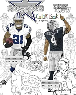 ezekiel elliott and the dallas cowboys then and now the ultimate football coloring