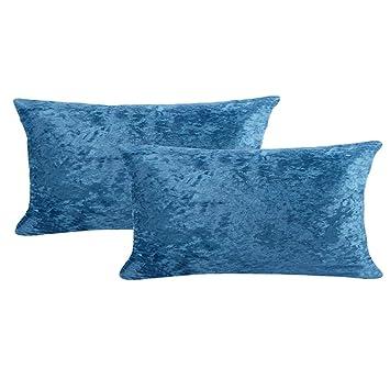 Amazon.com: WOMHOPE - 2 fundas de almohada de terciopelo de ...