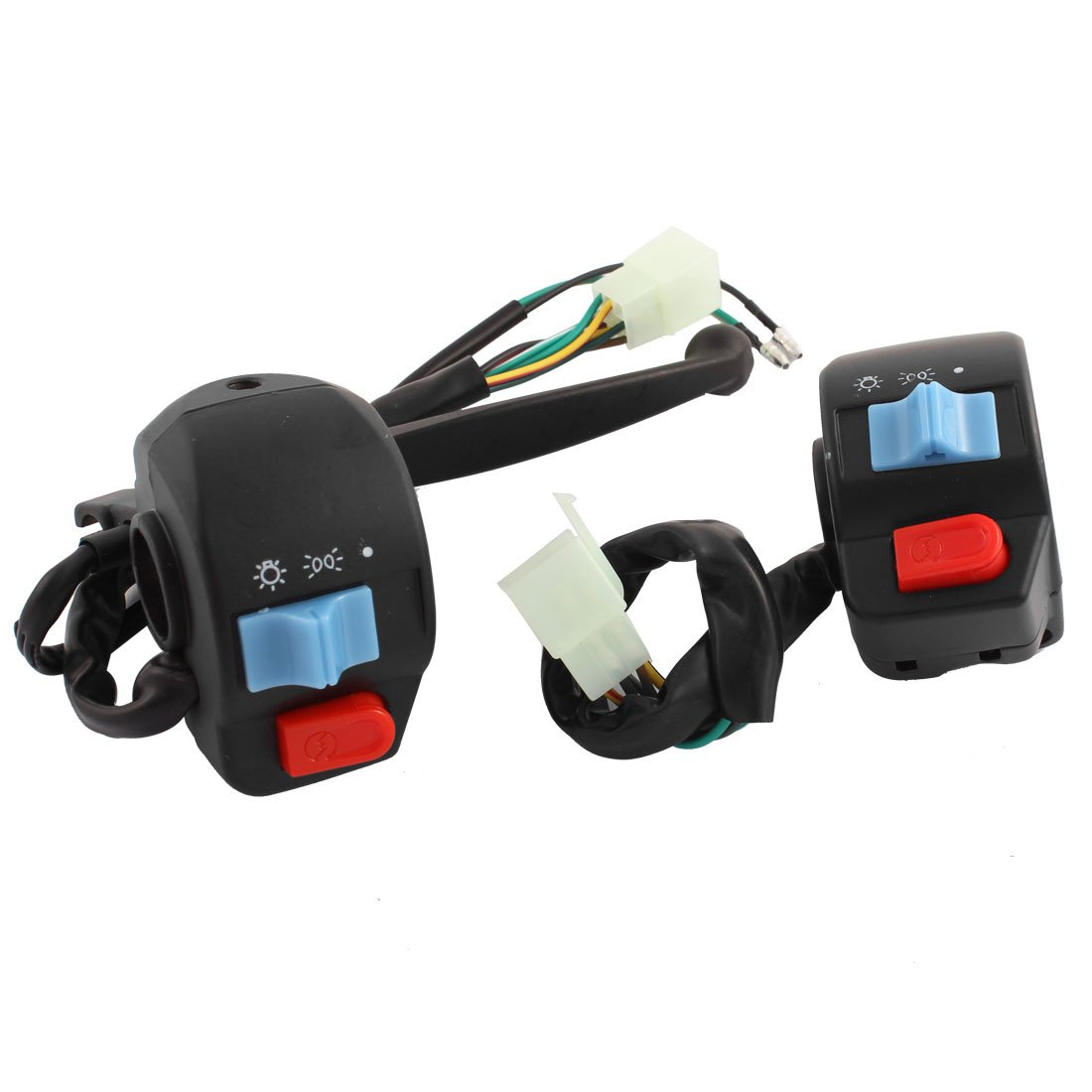 uxcell Motorbike Left Right Handlebar Switch Pair