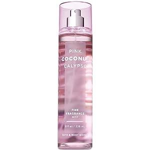 Bath and Body Works PINK COCONUT CALYPSO Fine Fragrance Mist 8 Fluid Ounce (2018 Edition)