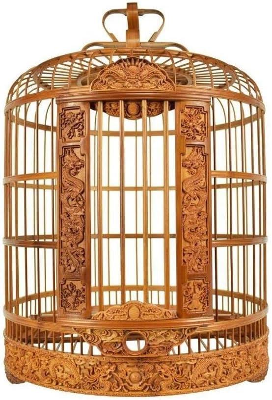 ZTMN Jaula de bambú para pájaros, balcón, peonía, Loro, Jaula para pájaros, Jaula para zorzales, Jaula Duradera para pájaros, Jaula para pájaros