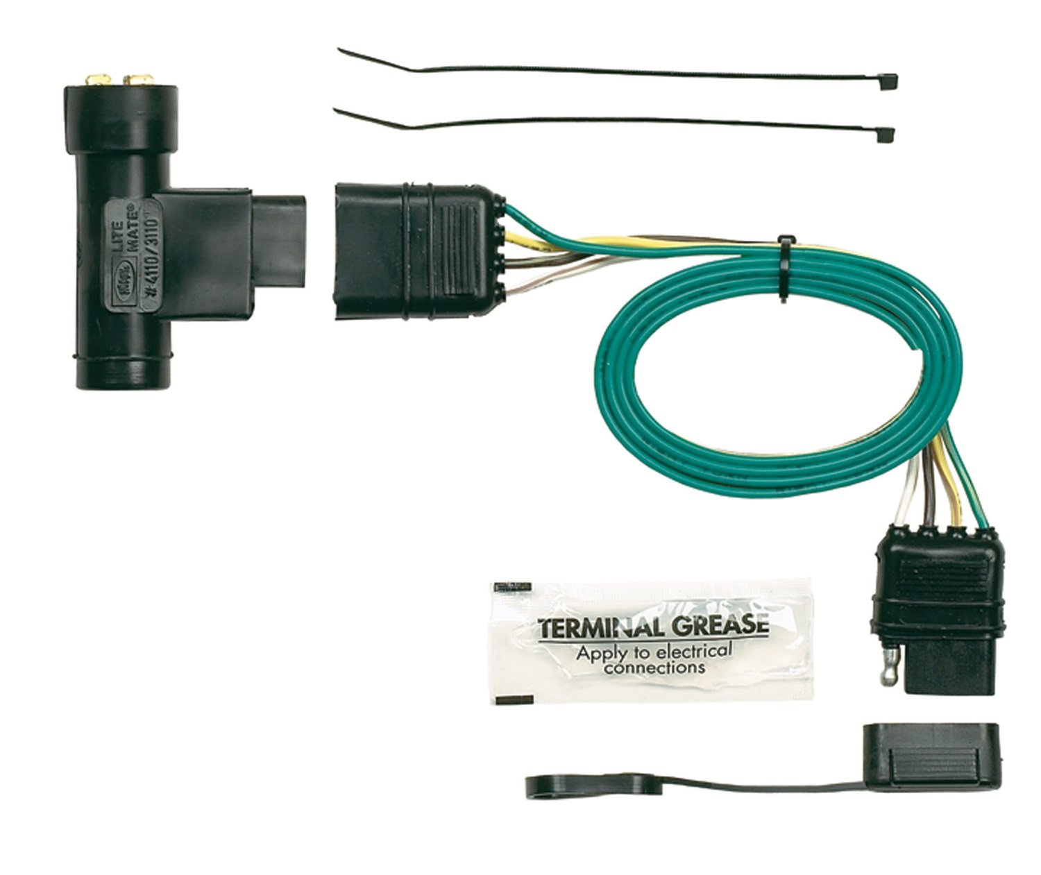 61WwgAY1zlL._SL1500_ amazon com hopkins 41105 plug in simple vehicle wiring kit hopkins towing solutions wiring diagram at panicattacktreatment.co