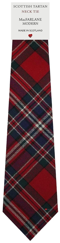 MacFarlane Clan Modern Tartan Plaid 100/% Lambswool Scarf /& Tie Gift Set