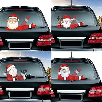 Oce180anYLV Car Styling Schöne Navidad Santa Claus Shake Brazo limpiaparabrisas Trasero Pegatinas: Amazon.es: Coche y moto