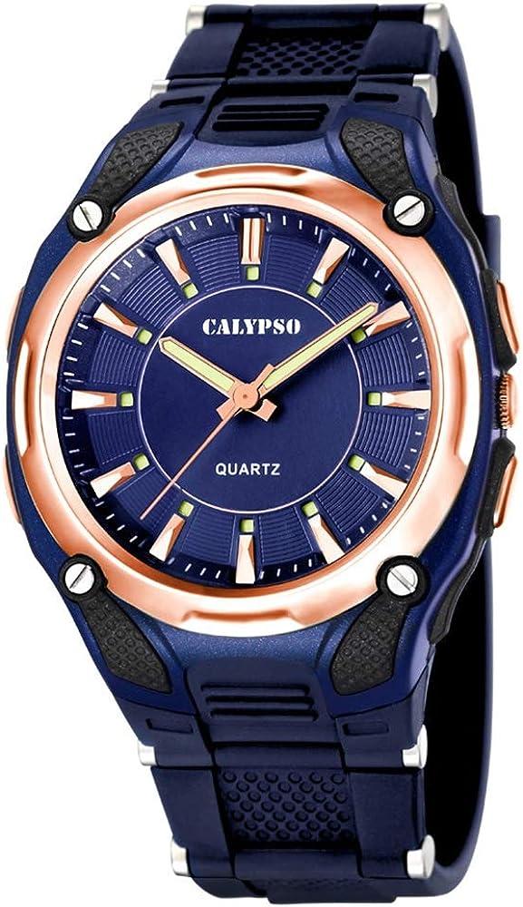 Calypso Herrenarmbanduhr Quarzuhr Kunststoffuhr mit Polyurethanband analog alle Modelle K5560, Variante:08