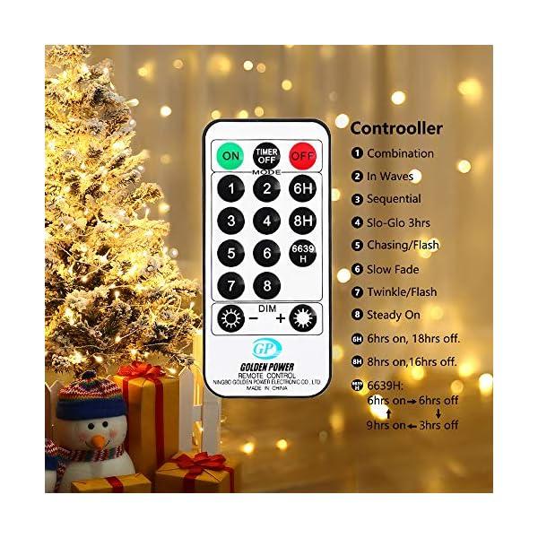 Qedertek Catena Luminosa, Cavo trasparente, Luci Stringa 23 Metri 200 LED, Addobbi Natalizi per Albero di Natale, Luce Natalizie per Decorazione Interno (Bianca Calda) 7 spesavip
